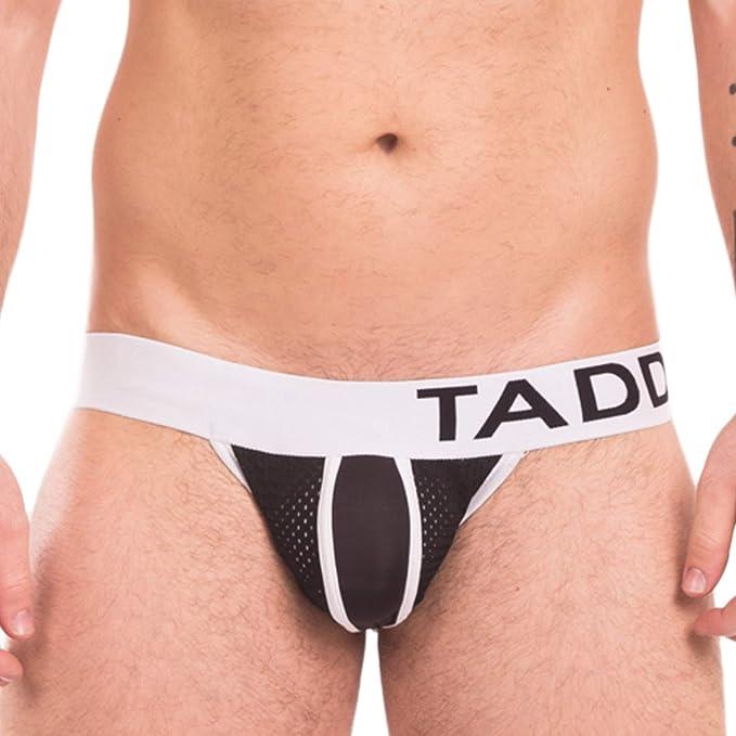 887cee6d9eb9 Taddlee Sexy Men's Jockstraps Underwear Mesh Jocks Briefs Bikini Solid  Backless (S, Black)