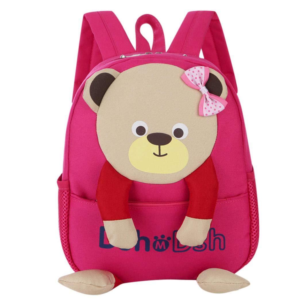 school bag for kids,iOPQO Baby Boys Girls Bear Pattern Cartoon Toddler Backpack