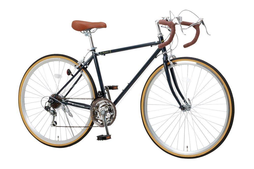 【完成車 組立済み】 RayChell(レイチェル) ロードバイク 700C RD-7021R シマノ21段変速(サムシフター) 2WAYブレーキシステム搭載 フレームサイズ470 ネイビーブルー B01JWERIOK