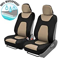 $26 » Motor Trend AquaShield Car Seat Covers for Front Seats, Beige – 3 Layer Waterproof…