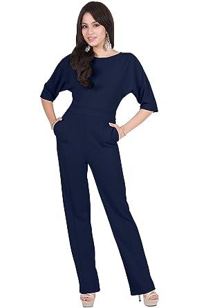 99721ae6c24d Amazon.com  Viris Zamara Womens Long Short Sleeve Round Neck Formal  Cocktail Jumpsuit  Clothing
