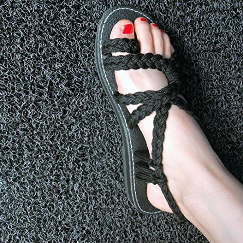 b53258223b836 ... Plage Casual Chaussure Ouverte Cheville Pantoufles Lacets Sandale Bride  34 42 Flip EU Flops Plate Tongs ...