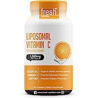 Liposomal Vitamin C - The ONLY 1500mg PER Capsule (NOT 2 Capsules Per Serving) DNA Verified and Potent VIT C – Swallow…
