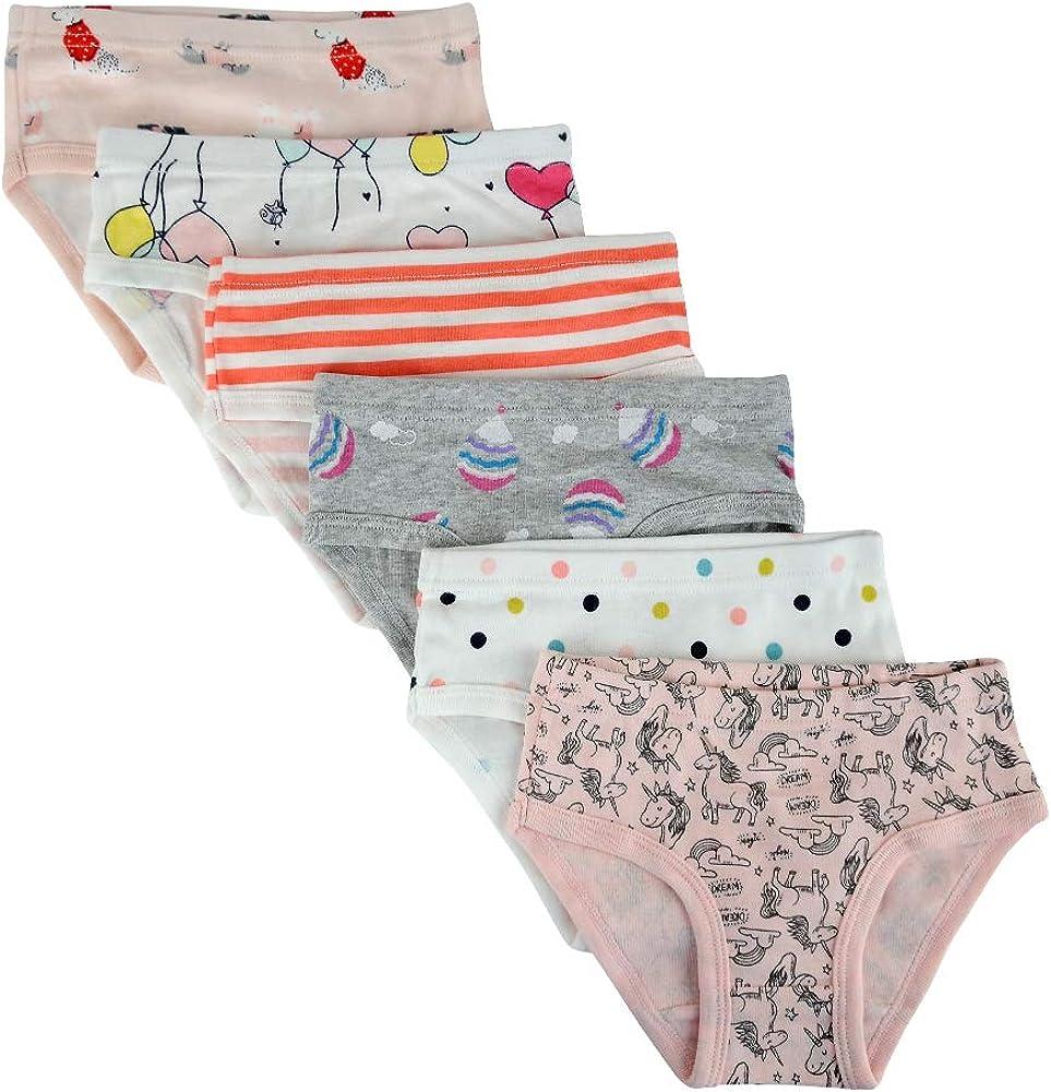 Kidear Mutandine Kid per Bambini Confortevoli in Cotone Intimi con Slip Assortiti per Bambine Piccole con Fiocchi