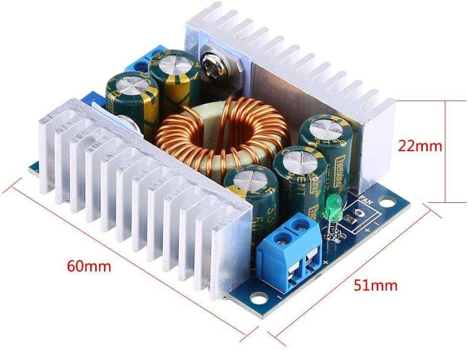 DC DC Step-down 12A Buck Power Module Adjustable 4.5V-30V to 0.8V-30V Regulator