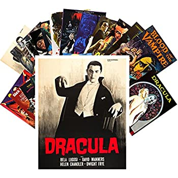 Postcard Set 24 cards Vampires Thriller Vintage Trash Horror Movie Posters
