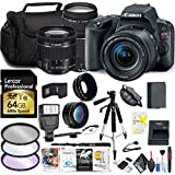 Canon EOS Rebel SL2 DSLR Camera 18-55mm Lens Canon EF-S 75-300mm Lens, 64GB SD Card, Photo Software, Filters More