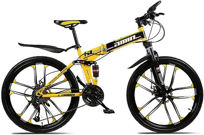 LISI Bicicleta de montaña 26 Pulgadas Todoterreno ATV Velocidad de 30 Motos de Nieve 4.0 neumático Grande Rueda Ancha 10 Cuchillo Rueda,Yellow: Amazon.es: Hogar