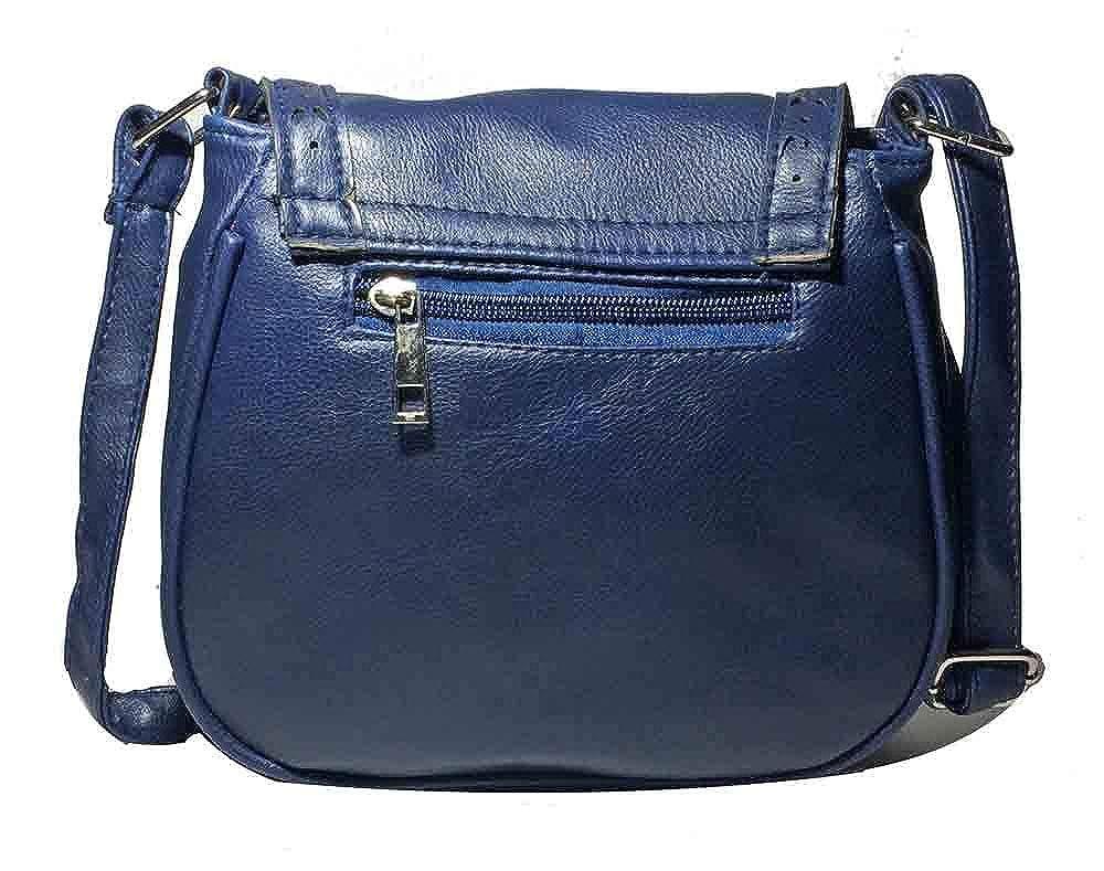 Péche Women s Boho Crossbody Bag. Faux Leather Shoulder Purse with Tassel  (Navy Blue)  Handbags  Amazon.com 45c0c4594