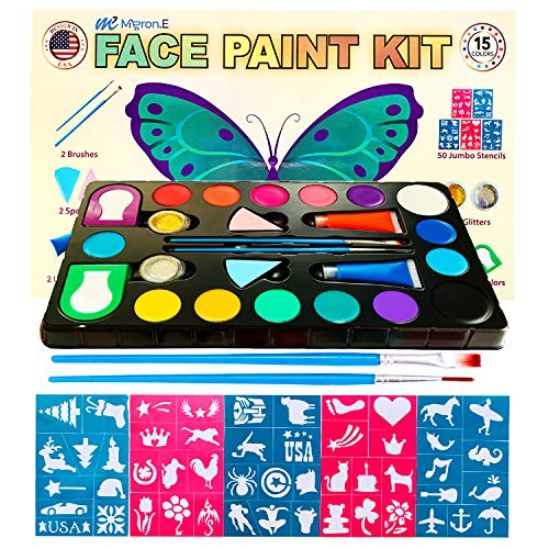 Pretty Face Painting Ideas For Halloween (Face Painting Kit for Kids :Face Paint kit, Face Painting Kits Professional,Halloween face Paint,face Painting Kits,face Painting,face Paint kit for)