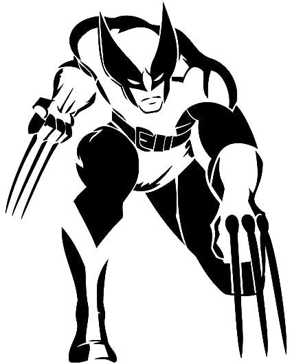 The Wolverine Cartoon Animated Roommates Design Children's Interior Wall Decorative Stencil Logan Character Vinyl Poster Marvel