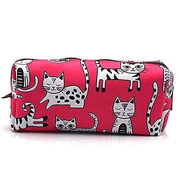 Estuche para lápices de gato rosa, bolsa de maquillaje ...