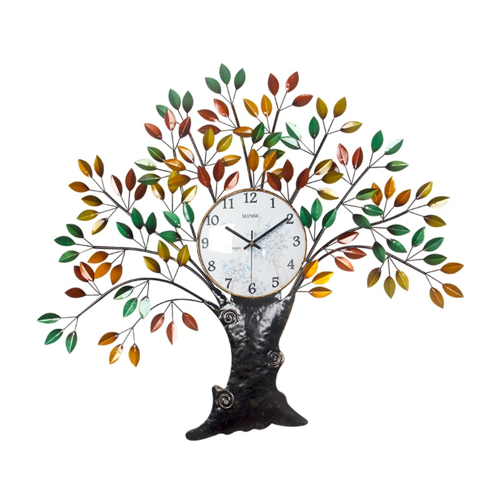 ウォールクロック、家の装飾のためのウォールクロック おじさんクリエイティブウォールクロック、リビングルームとベッドルームの装飾のための静音時計。 B07D784Y5P