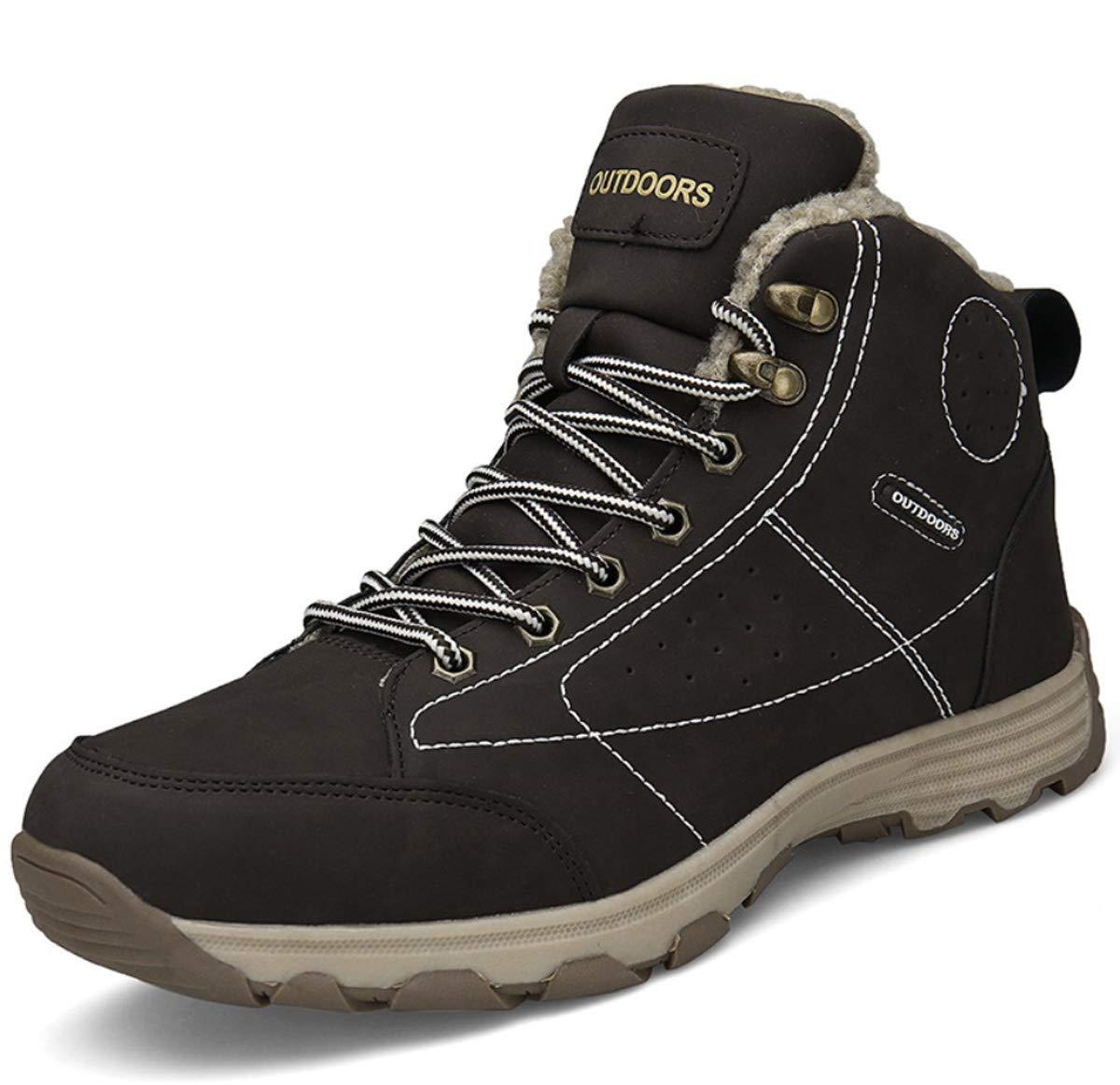 DANDANJIE Herren Turnschuhe mit Winter High Top Warme Wanderschuhe Bequeme Schuhe Outdoor Sports Snow Stiefel