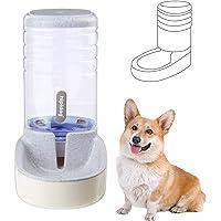 Hamiledyi Dogs & Cats Gravity Pet Water Dispenser,3.8L Gray Small Gravity Pet Water Dispenser Auto Replenish Gravity…