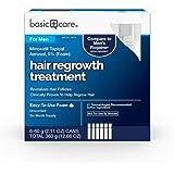 Basic Care Minoxidil Topical Aerosol, 5% (Foam) Hair Regrowth Treatment for Men, 12.66 Ounces