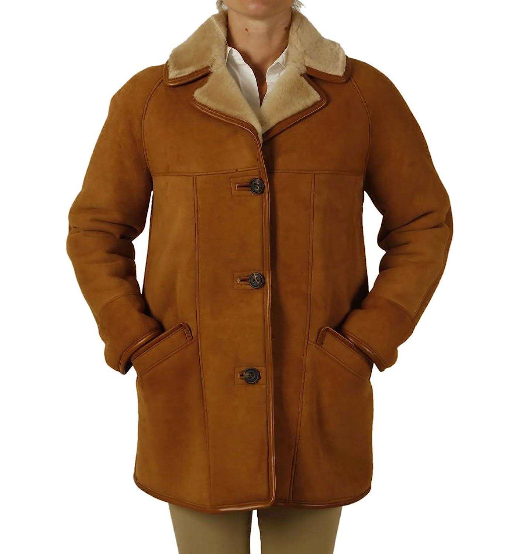 Ladies Traditional Sheepskin Coat: Amazon.co.uk: Clothing