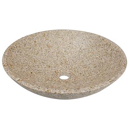 850T Granite Vessel Sink, Tan