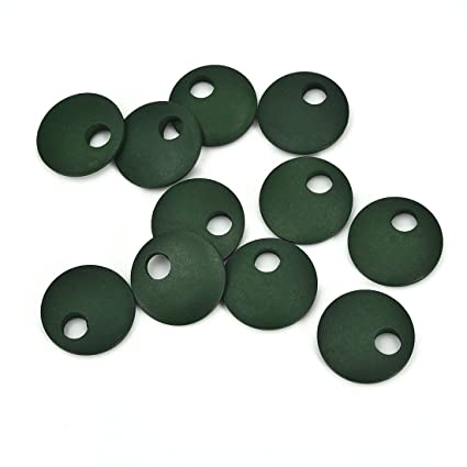 10pcs Wooden Discs Jewelry Making Crafts Diy Earrings Round Wood Pieces For Jewelry Making 25mmx25mm Green