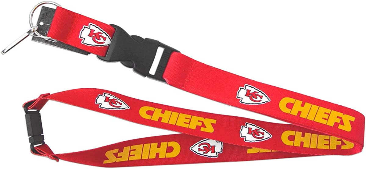 aminco NFL Kansas City Chiefs Reversible Lanyard