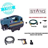 STARQ 100%Copper Winding Professional High pressure washer 1500W Induction motor (without carbon) with auto stop/start function(w2, Black/Orange)