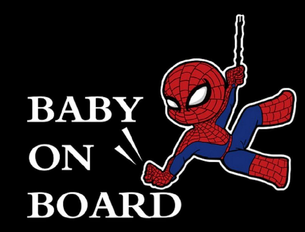 Adhesivo Spiderman Baby on Board para coche y moto