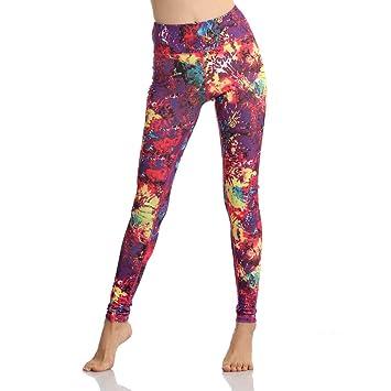 JUNMAONO Mujer Pantalones Yoga Leggings De Deportivo Fitness ...