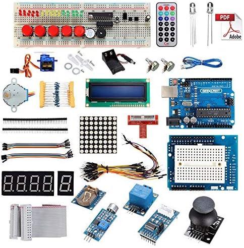 Taidallo Starter Kit DIY UNO for AR-duino 1602LCD Servo Ultraschallmotor L-E-D-Relais RTC Kompatibel mit AR-duino