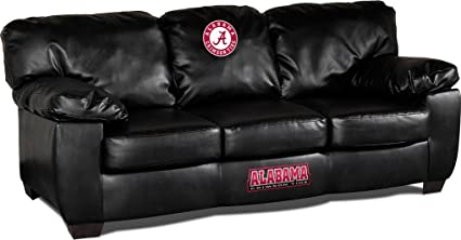 Imperial Officially Licensed NCAA Furniture: Classic Leather Sofa/Couch, Alabama  Crimson Tide