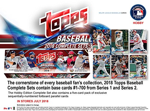 Topps 2018 Baseball Hobby Edition Complete 705 Card Factory Set - Baseball Complete - Card Complete Sets Baseball