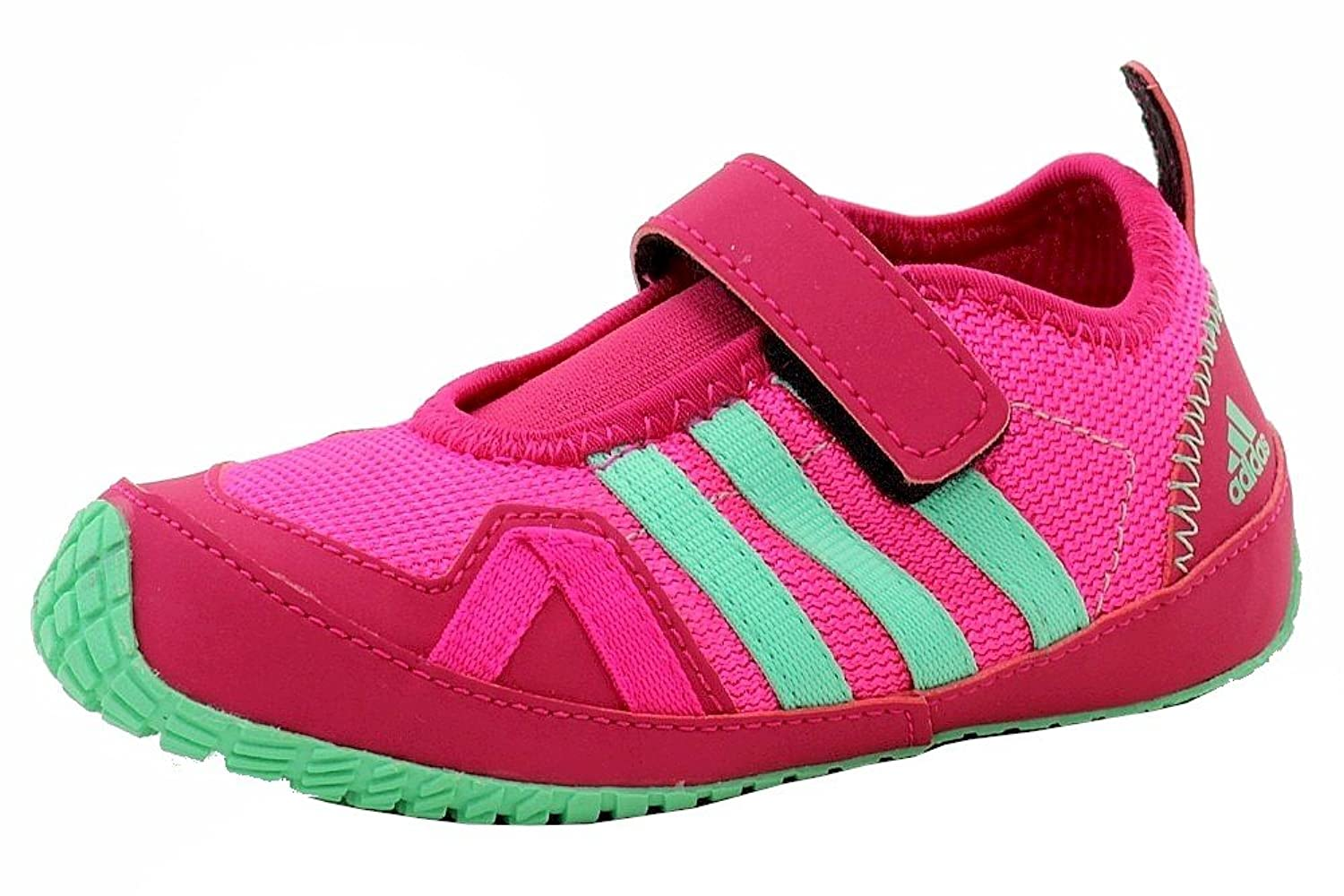 Adidas Toddler Girl's Boat AC I Shock Pink/Green Glow/Bold Pink Water Shoes