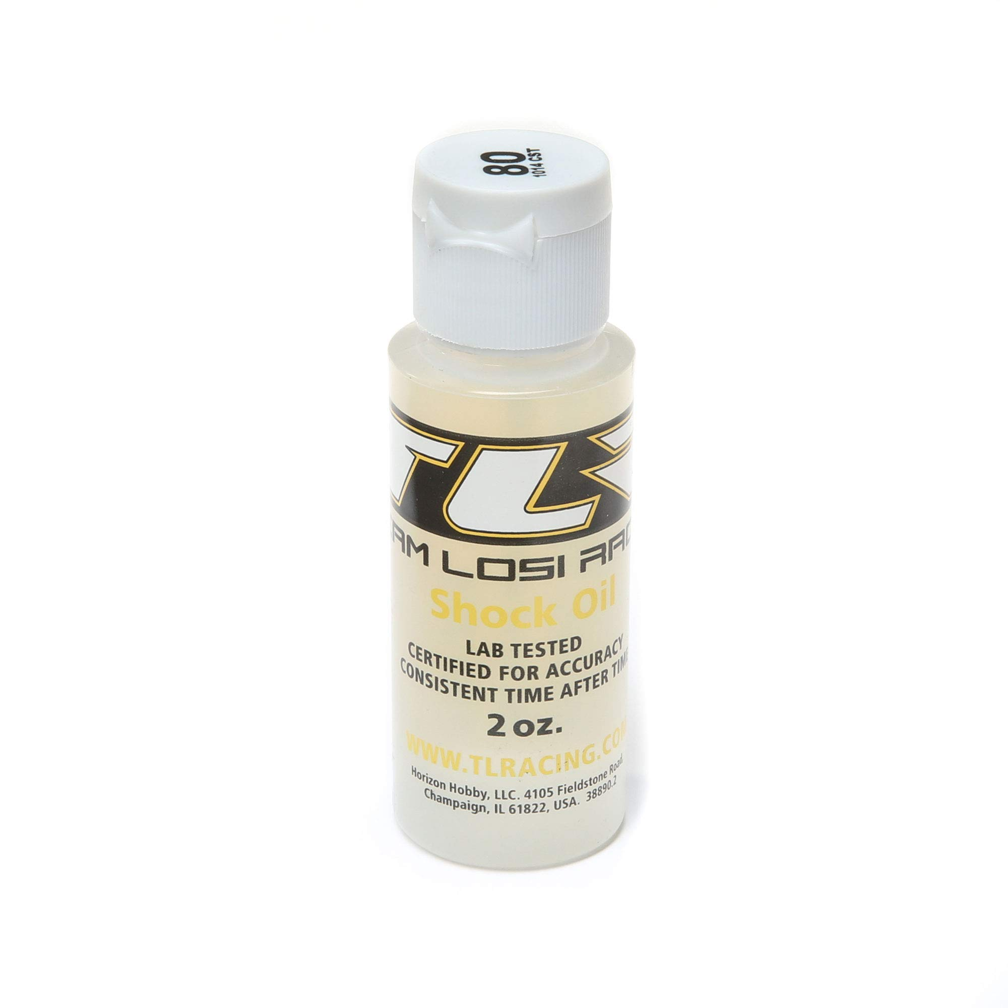 TEAM LOSI RACING Silicone Shock Oil, 80wt, 2oz, TLR74016
