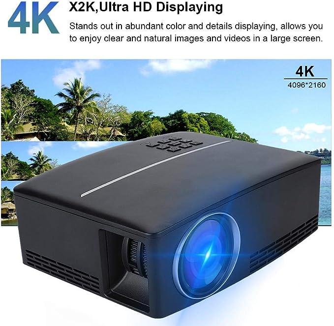 Mini proyector LED, Sonido estéreo portátil 4K x 2K Ultra HD ...