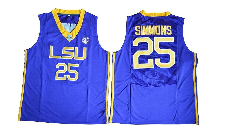 online store 5a32b ebc78 Men's Ben Simmons #25 LSU Tigers College Basketball ...