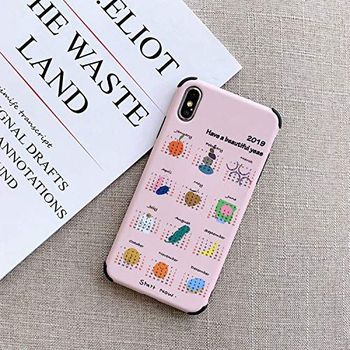 Amazon.com: Funny Cartoon Calendar Phone Cases for iPhone Xs ...