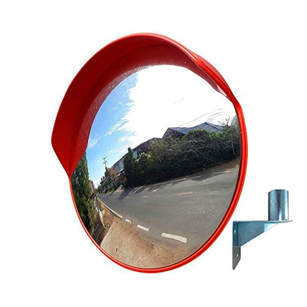 Geng カーブミラーセキュリティミラー屋外道路交通凸高速道路回転盗難防止ミラー、屋外スーパーマーケット球面PC広角レンズ 80cm  B07TV66DCP