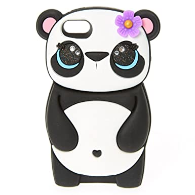 big sale 699ce 9591f Claire's Girl's Panda Flower iPod Case Black/White: Claire's: Amazon ...