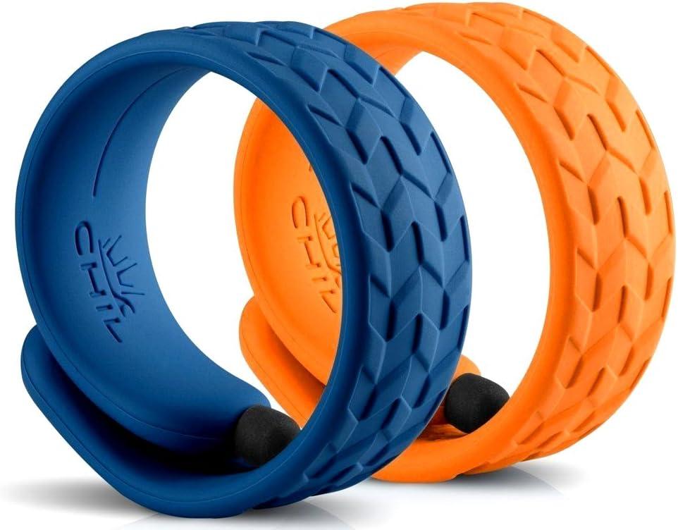 CHIL 2 Pack 7.5-Inch Slap Stylus Fashion Bracelet Orange /& Blue Touch Screen Pen