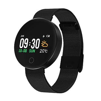 MCJL Perseguidor de Fitness, Reloj Deportivo Bluetooth podómetro Smart Pulsera Impermeable cinturón de Ritmo cardíaco tensiómetro de Vestir para Mujer los ...