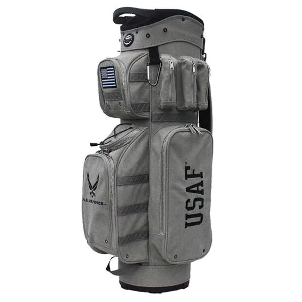 hot-zゴルフバッグMilitary – Air Forceカートバッグ  グレー B01N25I2TY