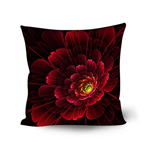 Coloranimal Juego de 4 Elegantes Fundas de cojín Floral para ...