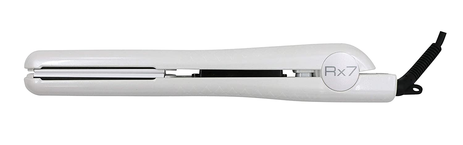 RX7 Superlite Advanced Ionic 1 1 4 Inch Ceramic Flat Iron, Pearl White, 8 Foot Cord