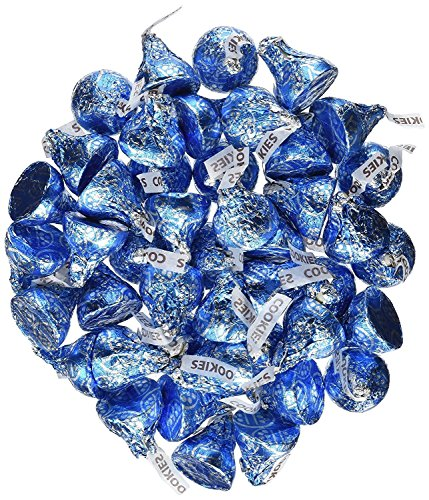 Hersheys Kisses Blue Cookies and Cream 4.25 Pounds Approx. 425 Kisses (Blue Kisses Chocolate)