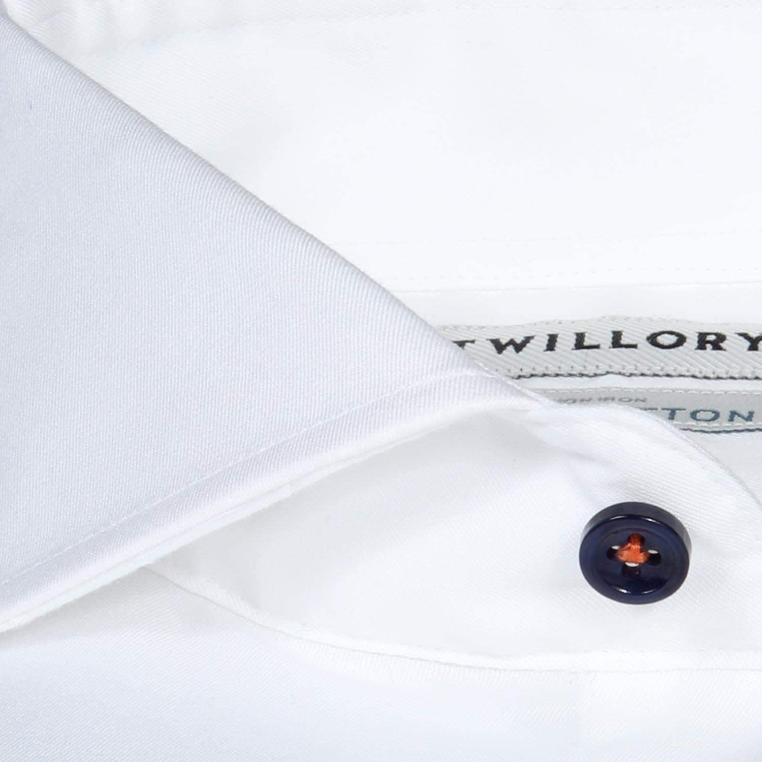 Twillory Solid Non-Iron Tailored Slim Fit Button Down Dress Shirt for Men