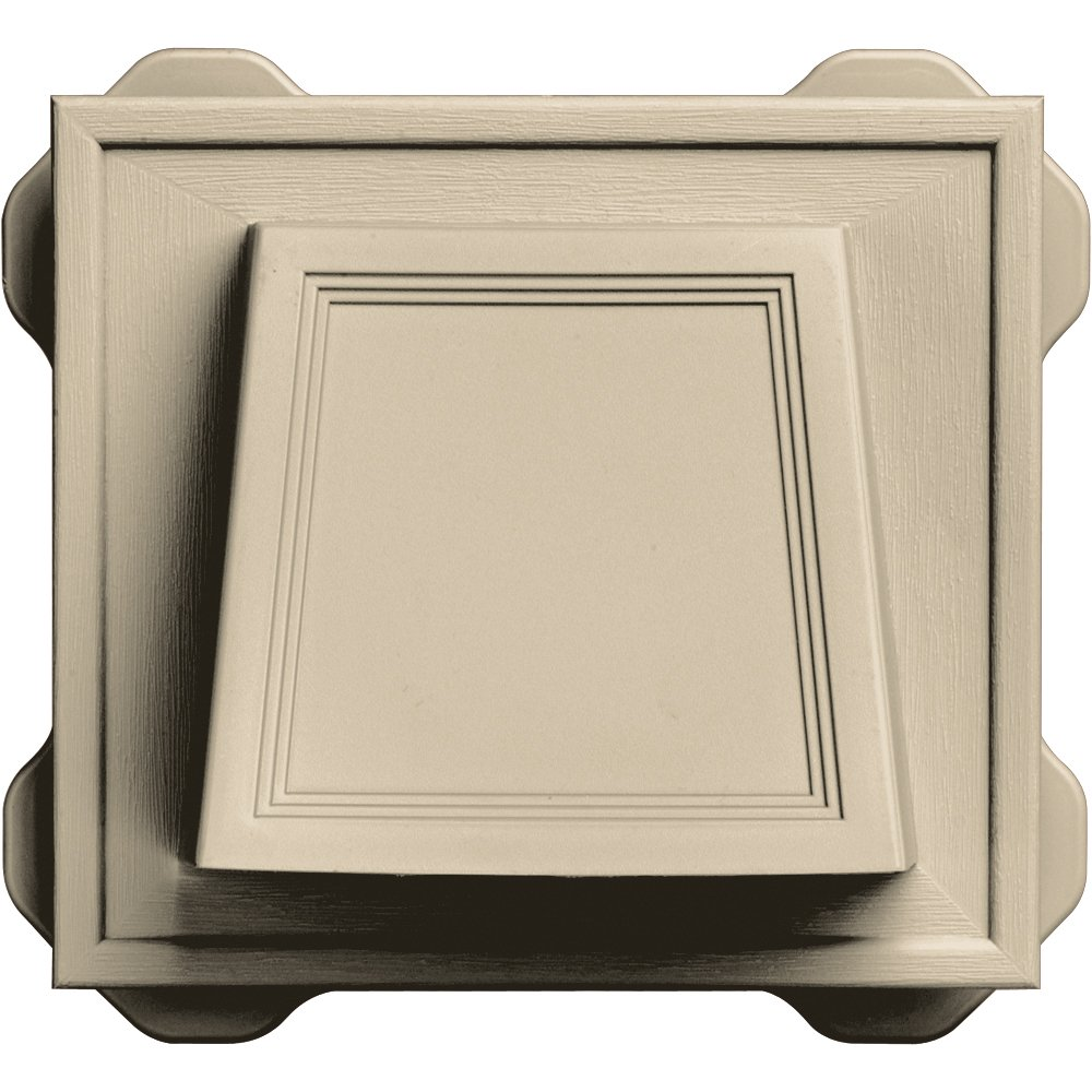 Builders Edge 140116774011 4'' Hooded Dryer Vent 011, Sandalwood