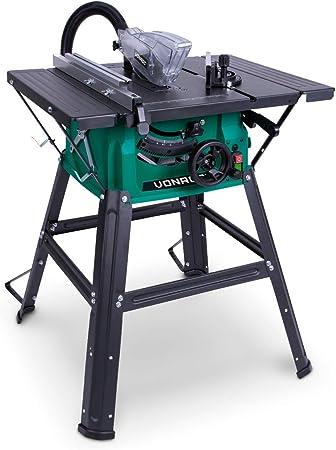 VONROC Sierra de mesa 1500W - 210mm - Incluye hoja de sierra 40T ...