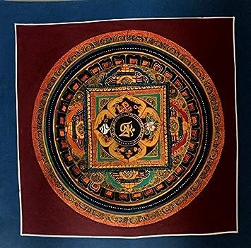 Traditional Tibetan Buddhist Golo Mandala With Buddhist Symbols