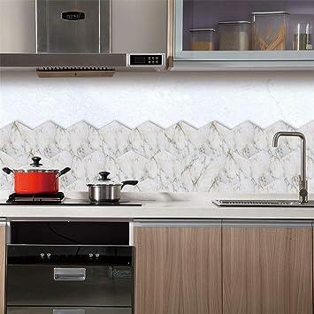 Creative 3D Auto Adhésive Panneaux Muraux Hexagonale Carreaux De Marbre Blanc  Pour Murs De Télévision