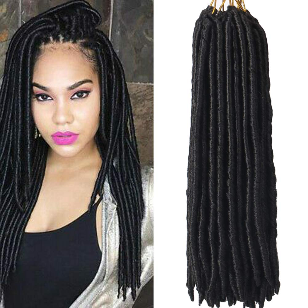 Haircity 14 Inch Bomba Dreadlocks Faux Locs 6 Packs Straight Goddess Locs