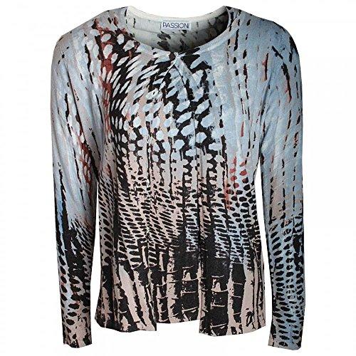 Passioni Knitted Twin Set, T-shirt & Cardigan Blue Multi